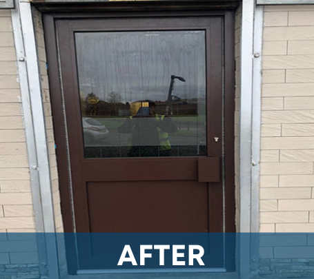Shop Door Replacement by Glasgow Aluminium Shop Fronts