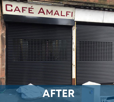 Buy aluminium shutters for your shopfront - Glasgow Aluminium Shop fronts