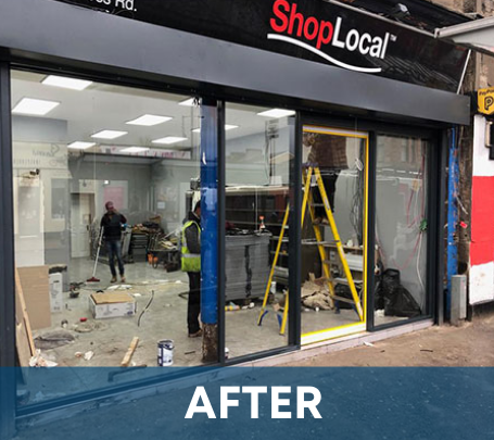 automatic doors by Glasgow Aluminium Shop fronts
