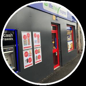Post Office Shop Front - Shop Fitters - Shop Fitting - Aluminium - Glasgow - Edinburgh - Aberdeen - Stirling - Dundee