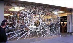 Broken Shop Front - Repairs carried out across Scotland - Glasgow Aluminium Shop Fronts