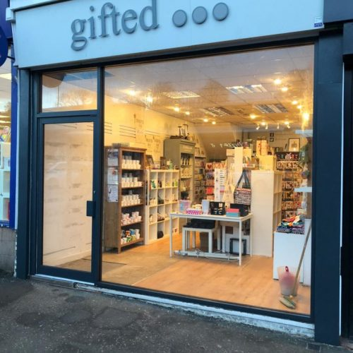 Gifted New Shop Front - fitout glasgow - roller shutters